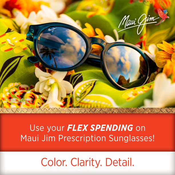 Maui Jim Prescription sunglasses are available at the Sunglass Shoppe in downtown Petoskey, Charlevoix, and Traverse City, Michigan.