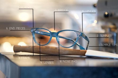 Parts of an Eyeglass Frame from The Sunglass Shoppe in Petoskey, Traverse City, and Charlevoix, MI