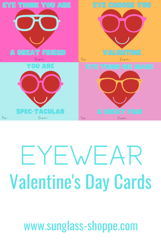 Printable Eyewear Valentine's Day Cards